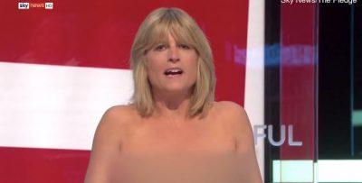 """""""E BËRA TË TËRHEQ VËMENDJE""""/ Gazetarja heq bluzën live në emision (VIDEO)"""