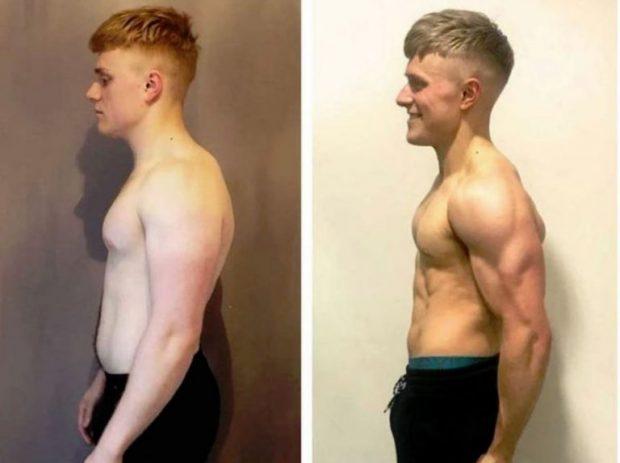 KA VETËM 5 VITE JETË/ I riu transformon trupin e tij në 12 javë (FOTO)
