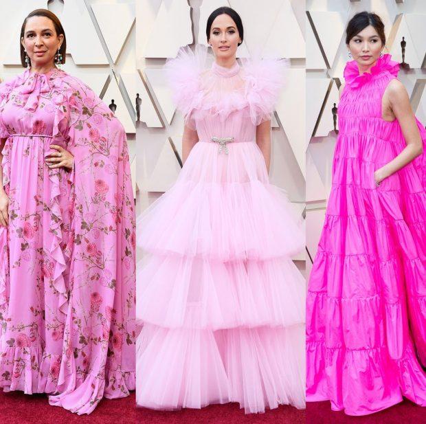 """""""ROZA MBRETËRORE""""/ Tendenca që mbizotëroi në tapetin e kuq në """"Oscar 2019"""" (FOTO)"""