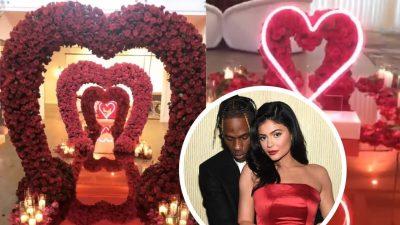 """""""TUNELI I DASHURISË""""/ Do e adhuroni surprizën e Kylie Jenner nga Travis Scott për Shën Valentin (FOTO)"""