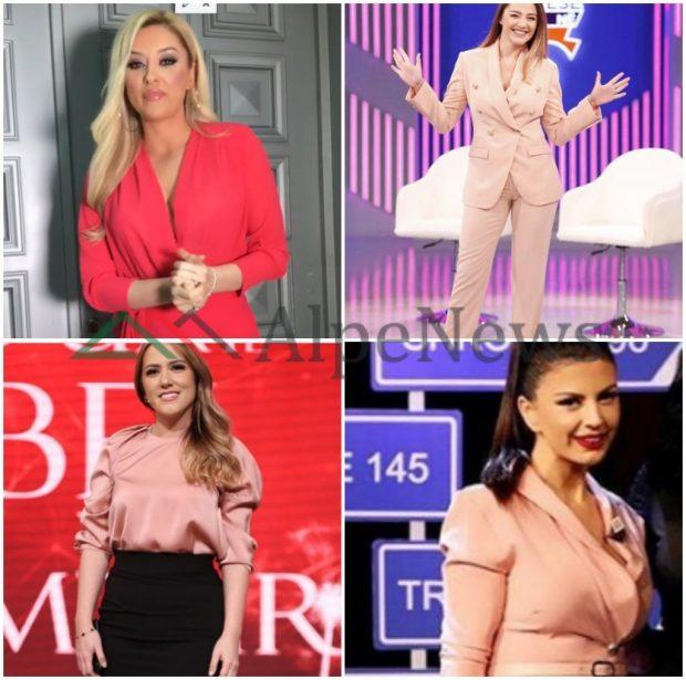 NGA ROZA E NDEZUR TEK AJO PASTEL/ Kur moderatoret bukuroshe bien në një mendje me veshje e tyre! (FOTO)