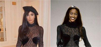 KUJT I RRI MË MIRË? Kim Kardashian i vjedh veshjen Naomi Campbell