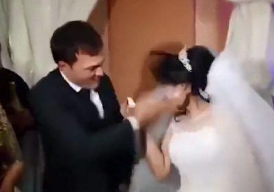 Shpulla ditën e dasmës për nusen, bëri shakanë e gabuar (VIDEO)