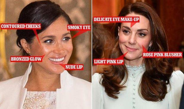 KATE KLASIKE DHE MEGHANI E KONTURUAR/ Dukeshat kontrast me njëra tjetrën në pallatin mbretëror (FOTO)
