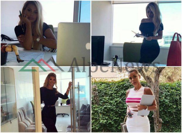"""""""BOSI VOGËL PO SHKON NË ZYRË""""/ / Kur Luana Vjollca publikon dhe krenohet me fotot nga… PUNA!"""