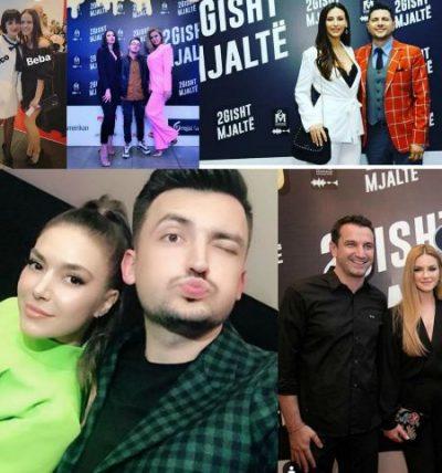 """PREMIERA E """"2 GISHT MJALTË""""/ Si u veshën VIP-at në event, nga Ermali me Elvanën tek… (FOTO)"""
