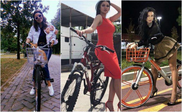 ME MINIFUND NË MAJË TË BIÇIKLETËS/ VIP-et shqiptare janë marrosur nga trendi i ri i fotove