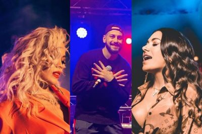 """FEST """"ALLA SHQIPTARÇE"""" NË ITALI/ Rita Ora ngre club-in në këmbë me këngët e Elvanës dhe Capital T (VIDEO)"""