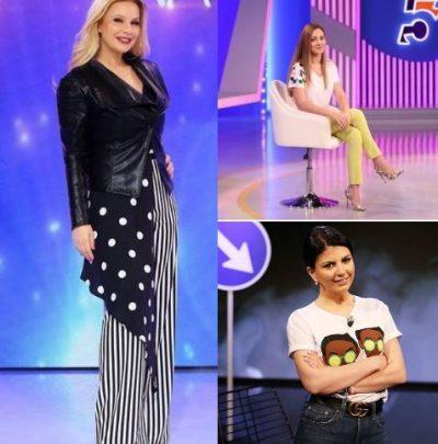 """NGA STILI """"CASUAL"""" TEK PRINTI BARDH E ZI/ Moderatoret bukuroshe shkëlqyen me këto veshje këtë javë (FOTO)"""