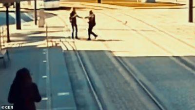 PAK SEKONDA LARG VDEKJES/ Polici hero shpëton gruan e verbër nga përplasja me trenin (VIDEO)