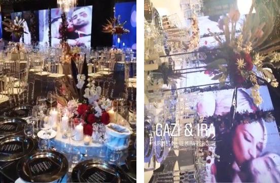 NJË PËRRALLË/ Brenda dasmës së Gaz Pajës, shikoni si duket salla (FOTO)