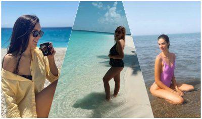 """PLASËN FOTOT ME BIKINI/ Femrat e showbizit sapo """"tërbuan"""" rrjetin me postimet nga plazhi"""