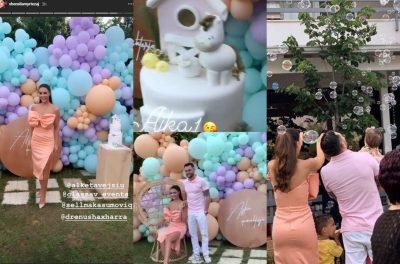 """""""AJKA 1 VJEÇ""""/ Festa madhështore që i kishte organizuar Besi dhe Xhensila, mos humbisni tortën (FOTOT)"""
