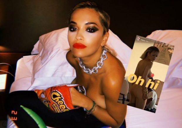 """OH, HI""/ Rita Ora publikon FOTO nudo, e fshin direkt, por fansat e ruajtën"