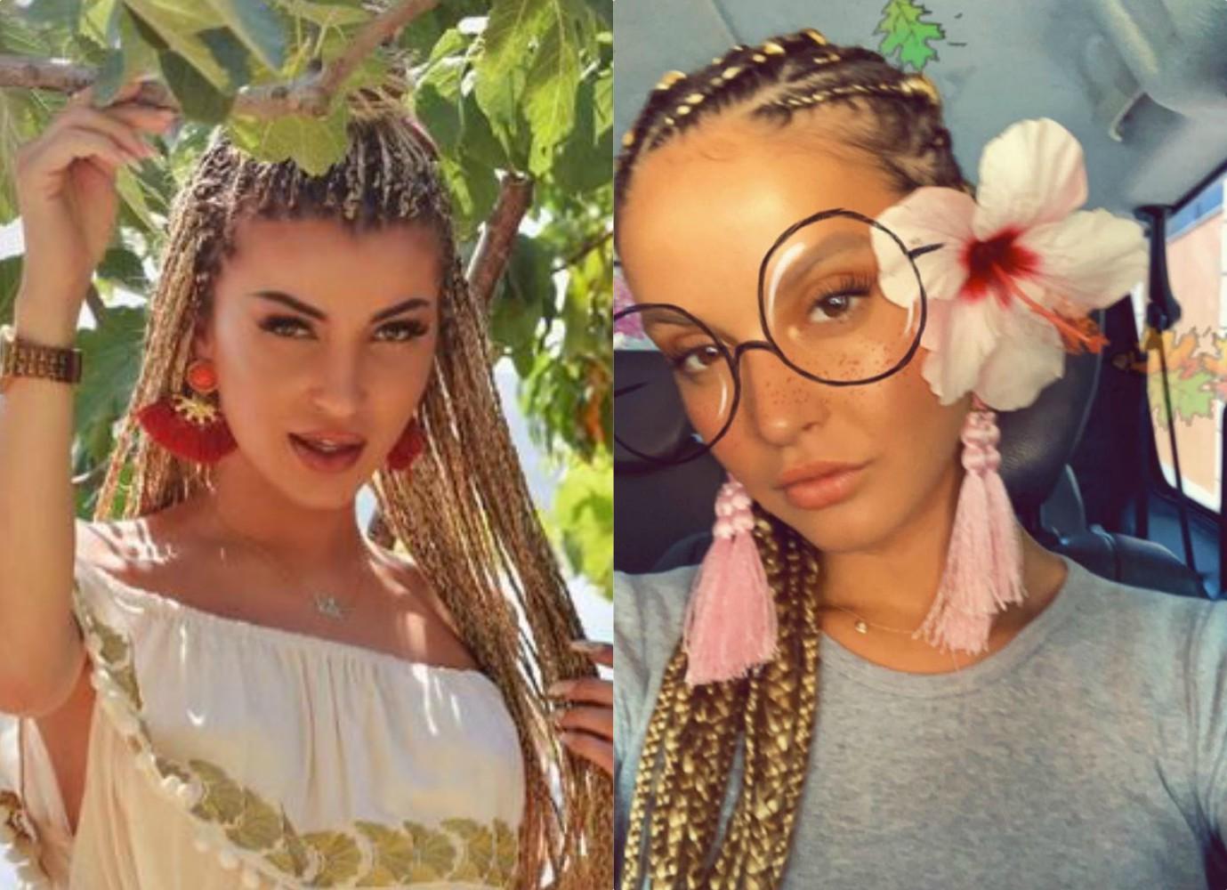 """""""KUSH KOPJOI KË?""""/ Oriola Marashi dhe Roza Lati me të njëjtin model flokësh (FOTOT)"""