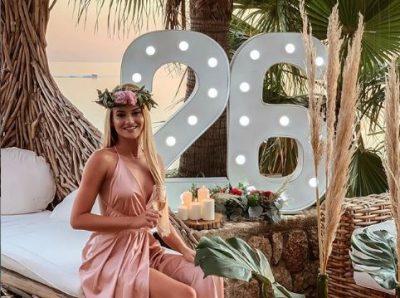"""""""FALEMINDERIT TË GJITHËVE…""""/ Modelja bukuroshe shqiptare feston ditëlindjen me VIP-at (FOTO)"""