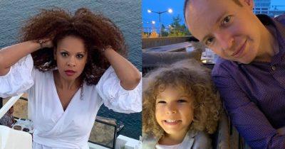 """PARTNERI I HUEYDAS FESTON DITËLINDJEN/ Djali i saj e uron dhe i thotë """"Babi"""" (VIDEO)"""