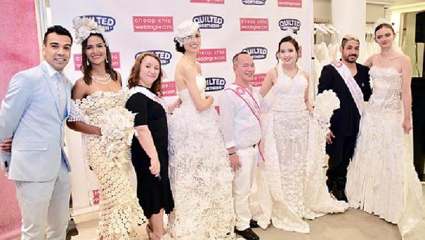 E MREKULLUESHME/ Shqiptarja fiton konkursin për fustanin më të bukur të nusërisë me letra higjenike (FOTO)