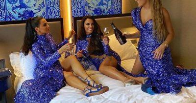 LE TË DIGJET RRJETI/ Albëria pozon në shtrat me dy vajzat në hotelin super luksoz