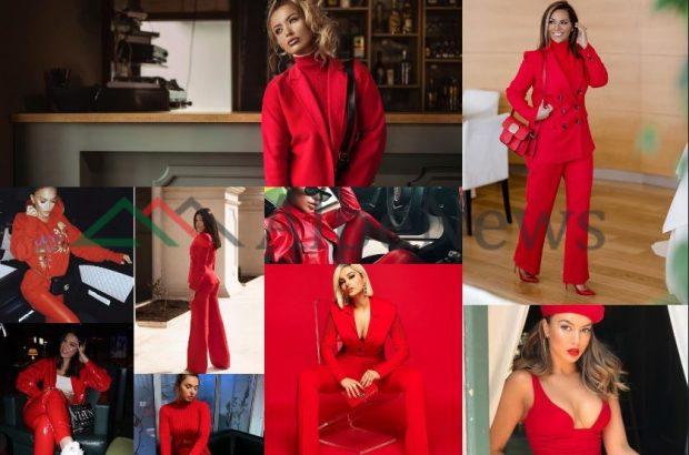 """KOMBINIM """"I RREZIKSHËM"""" POR IA VLEN/ VIP-et shqiptare ju tregojnë si të dukeni seksi vetëm me të kuqe (FOTO)"""