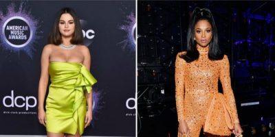 TË GJITHA RRËZËLLITËSE/ Çfarë veshën yjet në tapetin e kuq të American Music Awards