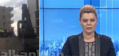 """""""E NDJEJMË, KA LËKUNDJE""""/ Gazetarja përjeton tërmetin live nga studio (VIDEO)"""