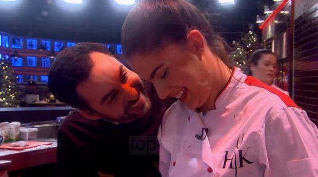 PLASËN ÇOKOLLATAT/ Renato në momente të ëmbla me konkurrenten bukuroshe