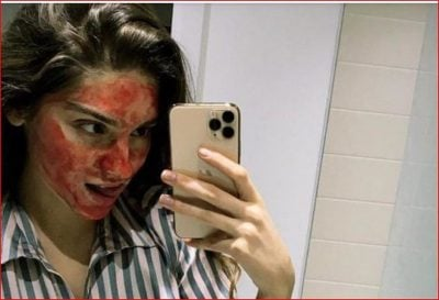 """E RRALLË/ Niki Delijorgji sapo tha se përdor gjakun e periodave si maskë për fytyrën dhe rrjeti """"u çmend"""""""