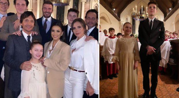 LUMTURI NË FAMILJEN E TYRE/ Pagëzohen dy fëmijët e Victoria dhe David Beckham