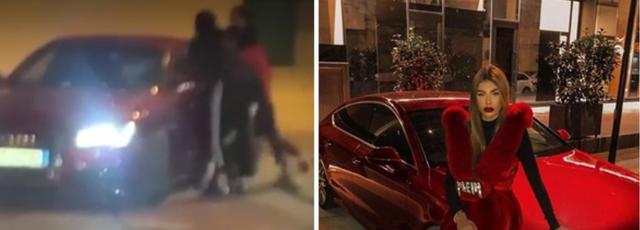 GRUSHTA DHE SHQELMA NË MES TË TIRANËS/ Të rinjtë rrahin TREJSI SEJDININ, brenda makinës luksoze (VIDEO)