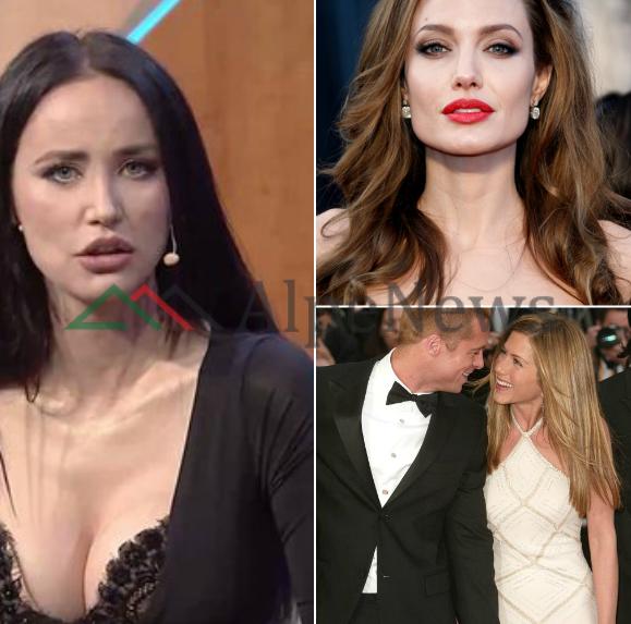 """""""NJË BUDALLA E GJYSËM""""/ Albana Osmani ka diçka për të thënë për trekëndëshin Brad, Jennifer dhe Angelina"""
