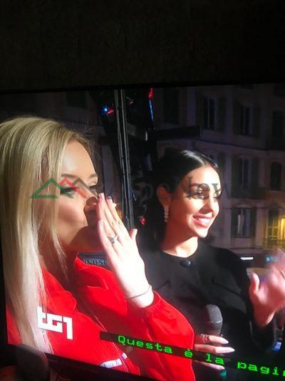 SANREMO/ Momenti kur Alketa Vejsiu dhe Georgina e Ronaldos, japin intervistën para nisjes së festivalit (FOTOT)