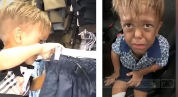 DJALI QË NA PREKU TË GJITHËVE/ 9-vjeçari bëhet me gardërobë të re (VIDEO)