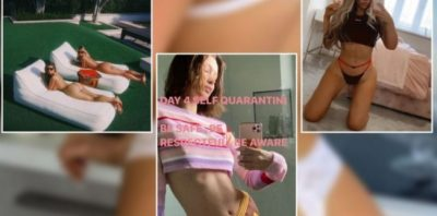 KORONAVIRUSI/ Modelet pozojnë nga karantina dhe nuk i lënë shumë vend imagjinatës (FOTO)