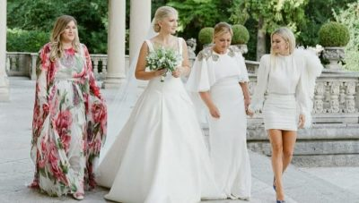 NGA FUSTANET TEK TORTA MADHËSHTORE/ Poza të pa publikuara më parë nga dasma e Sara Hoxhës dhe Ledion Liços (FOTO+VIDEO)