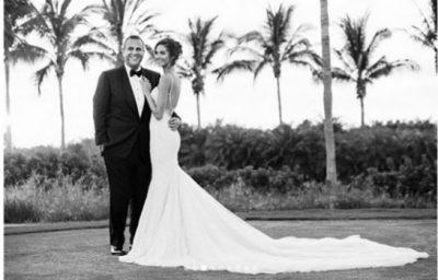 EMINA ÇUNMULAJ PUBLIKON FOTOT NGA DASMA NË PËRVJETORIN E 5-TË/ Zgjedh fjalët më të ëmbla për bashkëshortin