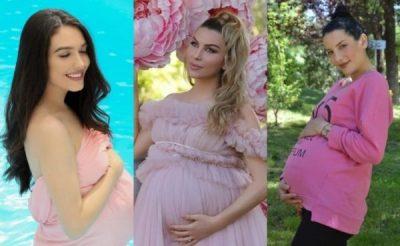 NË PRITJE TË ËMBËL/ Jonida, Olta dhe Alba kanë një të përbashkët në shtatzënitë e tyre (FOTOT)