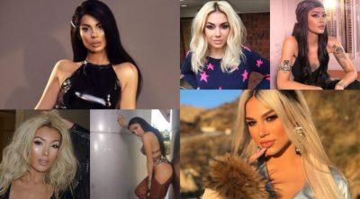 NGA LUANA VJOLLCA TEK ELVANA GJATA/ Këto VIP-e të showbizit shqiptar kanë guxuar me ngjyrën e flokëve (FOTO)