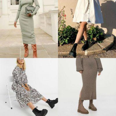 """""""FUNKSIONOJNË GJITHMONË/ Këto janë disa prej kombinimet e fustaneve me çizme (FOTOT)"""