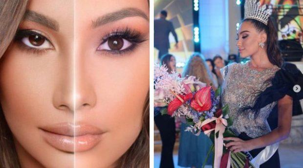 """DUKEN SI BINJAKE/ Të gjithë po habiten me ngjashmërinë e """"Miss Shqipëria"""" dhe """"Miss Indonezia"""" (FOTO)"""