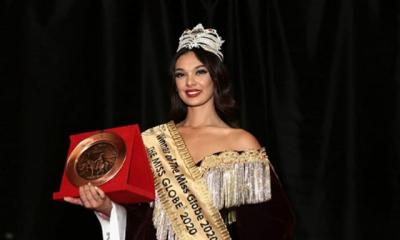 """I MAHNITI TË GJITHË/ Mbesa e Diellza Kolgecit fiton trofeun e """"Miss Globe 2020"""" (FOTO)"""