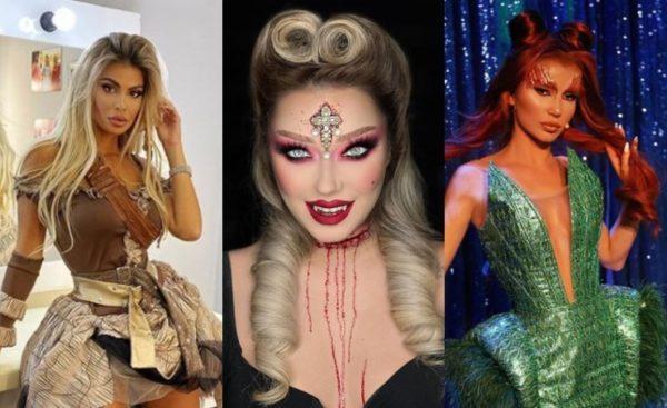 """NGA PAMJET E FRIKSHE TEK IMITIMET/ Ja si u maskuan vajzat e showbizzit në këtë """"Halloween"""" (FOTOT)"""