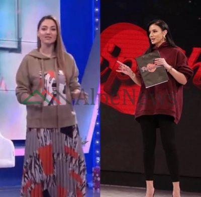 """""""GUXOJNË"""" ME VESHJET/ Bora Zemani dhe Bieta sulo """"habisin"""" me LOOK-un e ri, shfaqen në emision me… """"hoodie"""""""
