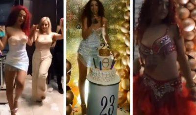 """DITË E VEÇANTË/ Melisa feston 23-vjetorin me vajzat e djemtë e """"Përputhen dhe i vë flakën festës (VIDEO)"""