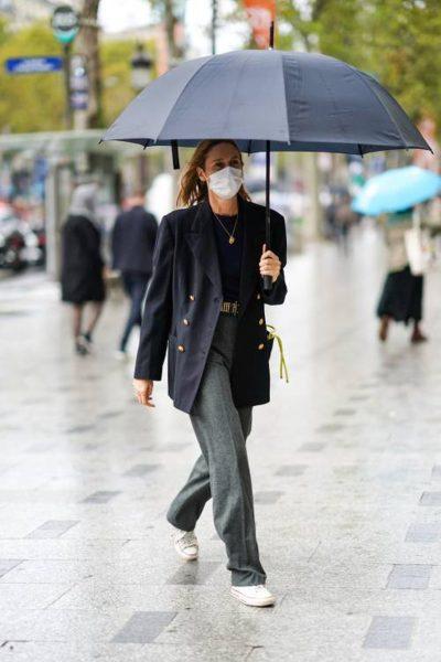 VËMËNDJE GOCA/ Ja çfarë duhet të veshim në një ditë me shi sipas Katie Holmes (FOTOT)