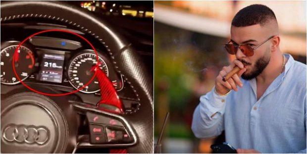 """NUK REPEKTON RREGULLOREN E QARKULLIMIT/ Fation Kuqari filmon veten kur ecën me """"Audi"""" me mbi 215 km/h (VIDEO)"""