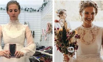 IMAGJINATË DHE DUAR TË ARTA/ Nuset që kthyen veshjet e thjeshta në fustane nusërie të veçanta (FOTO)