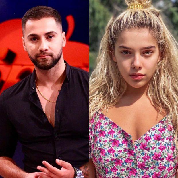 """DEL VIDEO/ Në mes të emisionit, Bruno i """"Për'puthen"""" i rrëmbeu një puthje Arilena Arës"""
