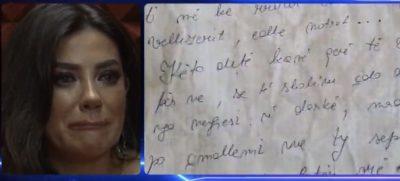 """""""TË SHOHIM ÇDO DITË…""""/ Arjola Demiri surprizohet nga """"Vëllai i Madh"""", merr letrën emocionuese nga e motra"""